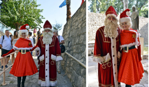 At Church of St Nicholas Myra Turkey world 1st with Santa & Mrs Claus together here